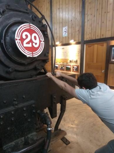 Spaniard pulling a train